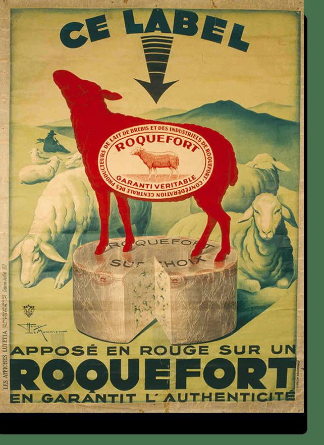 Label AOP Roquefort